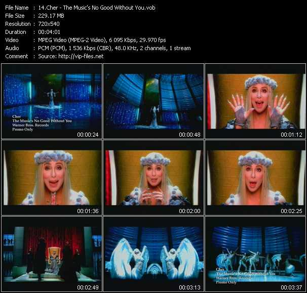 download Cher « The Music's No Good Without You » video vob