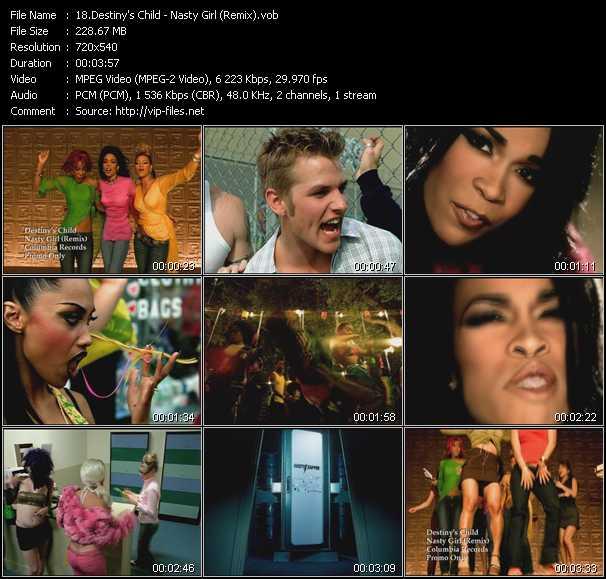 video Nasty Girl (Remix) screen