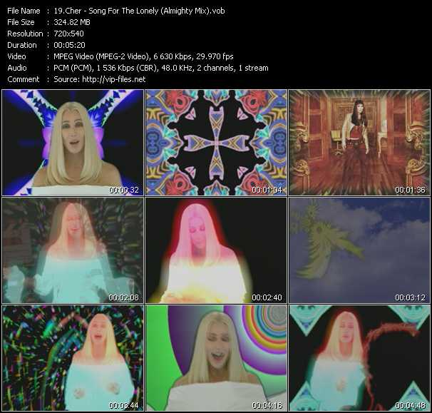 download Cher « Song For The Lonely (Almighty Mix) » video vob