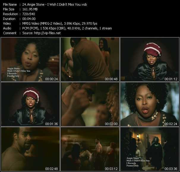 download Angie Stone « I Wish I Didn't Miss You » video vob