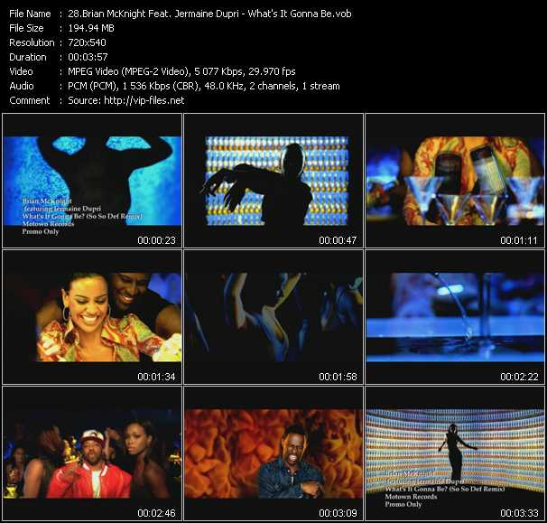 download Brian McKnight Feat. Jermaine Dupri « What's It Gonna Be » video vob