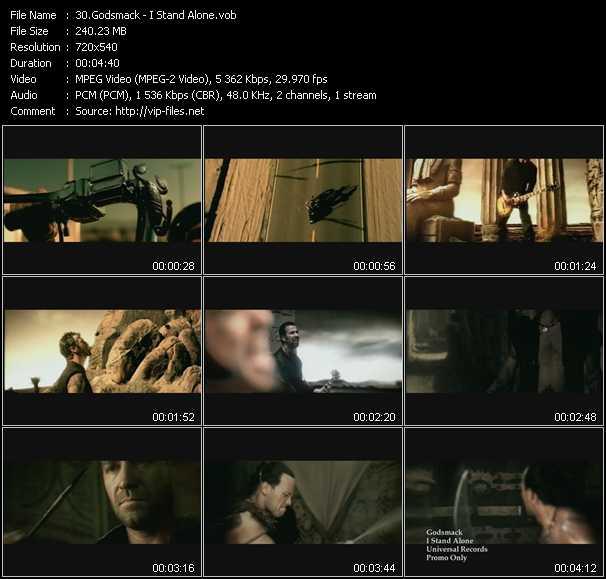 download Godsmack « I Stand Alone » video vob
