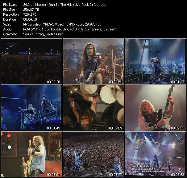 download Iron Maiden « Run To The Hills (Live At Rock In Rio) » video vob
