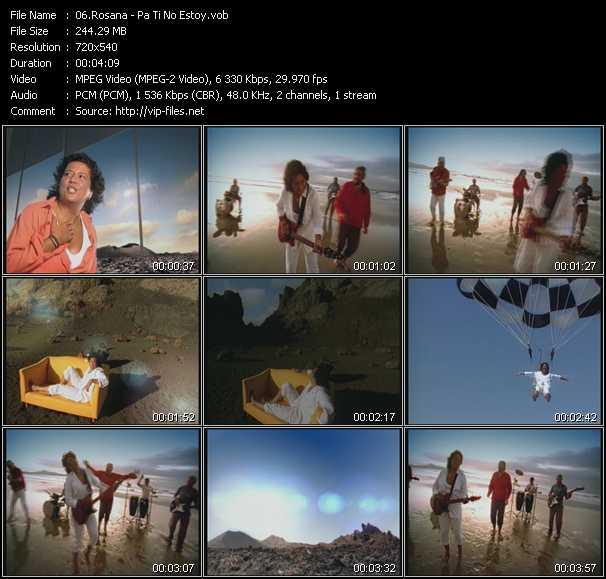 download Rosana « Pa Ti No Estoy » video vob