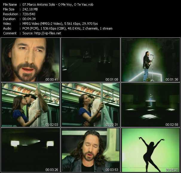 download Marco Antonio Solis « O Me Voy, O Te Vas » video vob