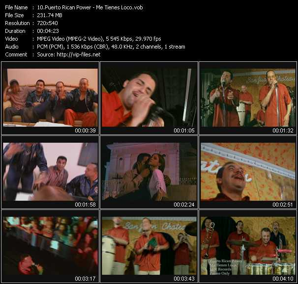 video Me Tienes Loco screen
