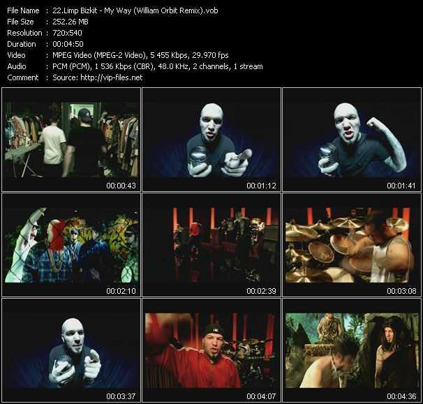 download Limp Bizkit « My Way (William Orbit Remix) » video vob