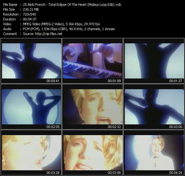 download Nicki French « Total Eclipse Of The Heart (Mobius Loop Edit) » video vob