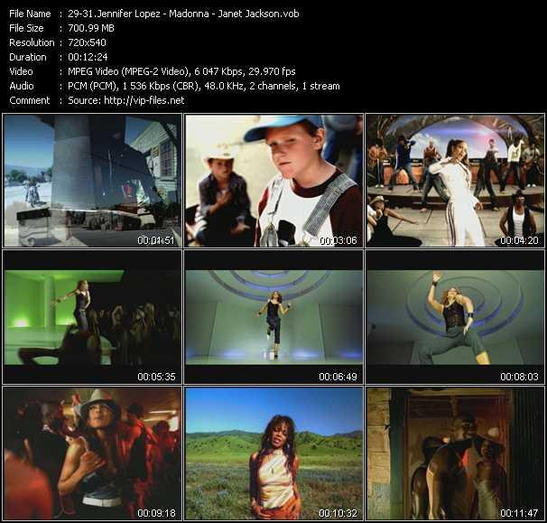 download Jennifer Lopez - Madonna - Janet Jackson « I'm Real (Dezrok Club Edit) - Beautiful Stranger (Calderone Club Edit) - Someone To Call My Lover (Total 80's Edit) » video vob