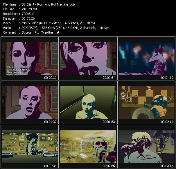 download Client « Rock And Roll Machine » video vob