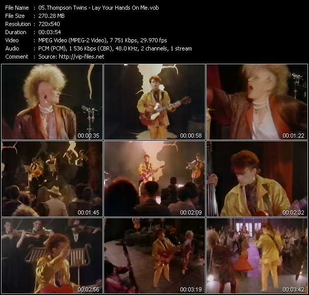 download Thompson Twins « Lay Your Hands On Me » video vob