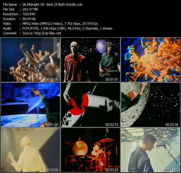 download Midnight Oil « Best Of Both Worlds » video vob