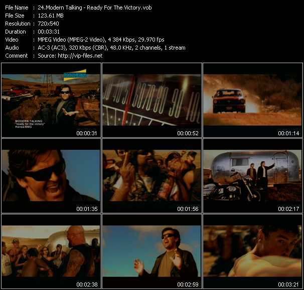 download Modern Talking « Ready For The Victory » video vob