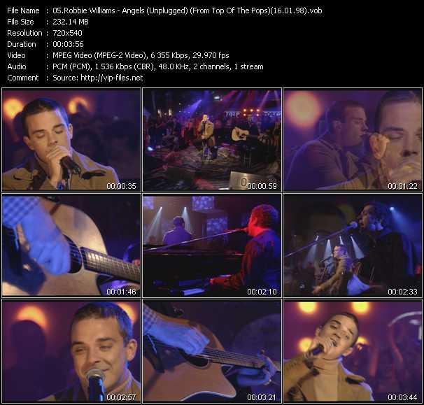 video Angels (Unplugged) (From Top Of The Pops) (16.01.98) screen