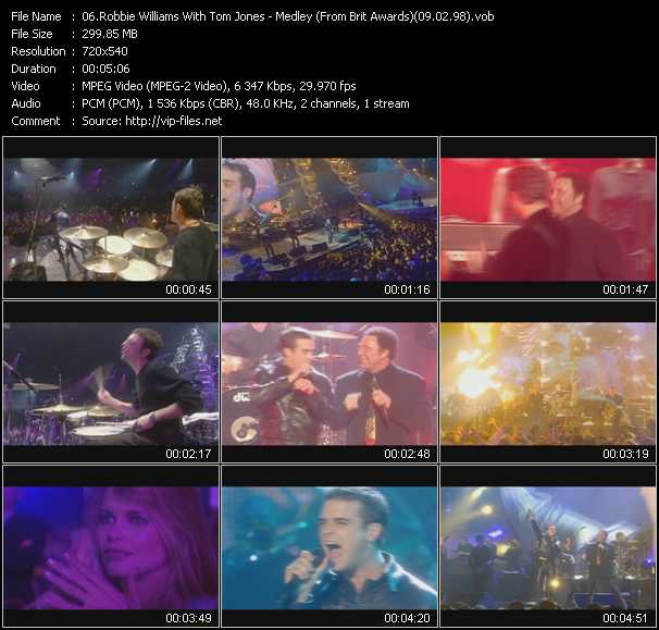 video Medley (From Brit Awards) (09.02.98) screen