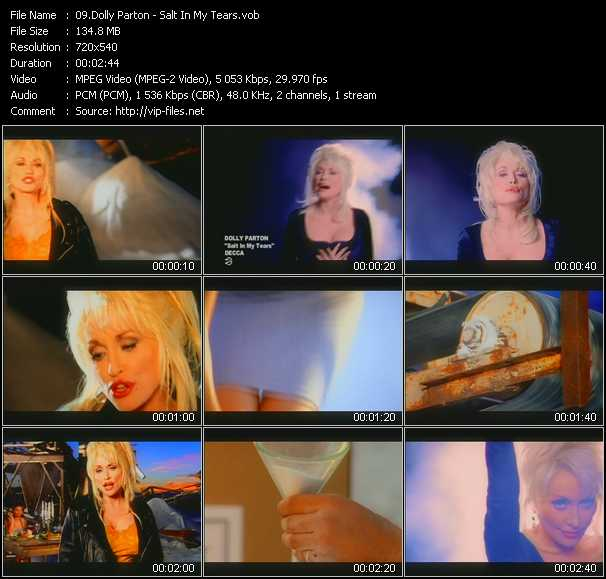 download Dolly Parton « Salt In My Tears » video vob