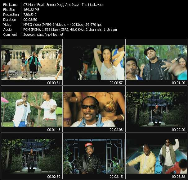 download Mann Feat. Snoop Dogg And Iyaz « The Mack » video vob
