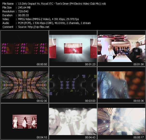 video Tom's Diner (PH Electro Video Club Mix) screen