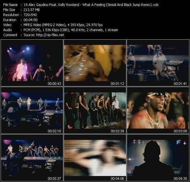 download Alex Gaudino Feat. Kelly Rowland « What A Feeling (Simioli And Black Jump Remix) (Vj Tony MacAroni Video Mix) » video vob