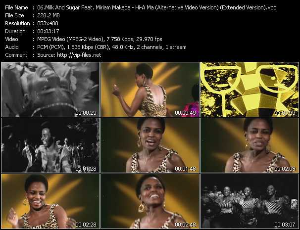 video Hi-A Ma (Pata Pata) (Alternative Video Version) (Extended Version) screen