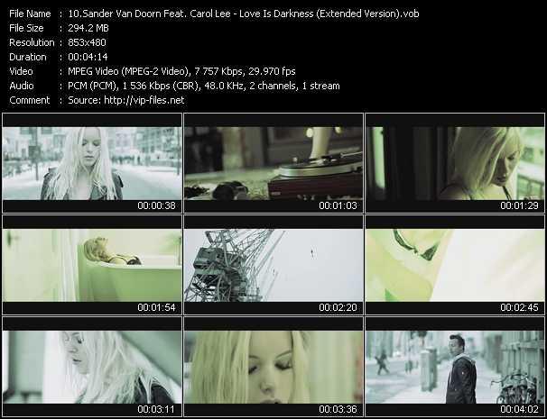 download Sander Van Doorn Feat. Carol Lee « Love Is Darkness (Extended Version) » video vob