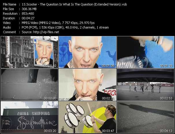 video The Question Is What Is The Question (Extended Version) screen