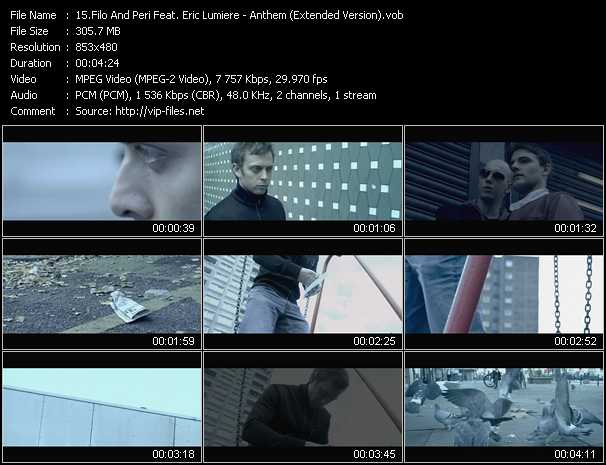 download Filo And Peri Feat. Eric Lumiere « Anthem (Extended Version) » video vob