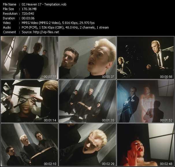 download Heaven 17 « Temptation » video vob