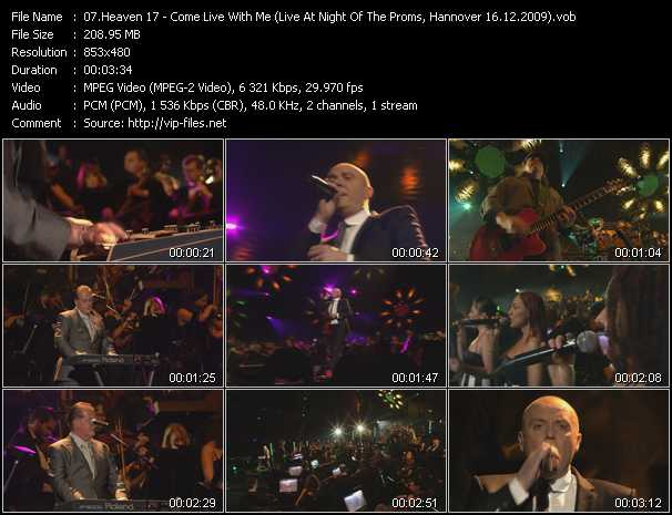 download Heaven 17 « Come Live With Me (Live At Night Of The Proms, Hannover 16.12.2009) » video vob