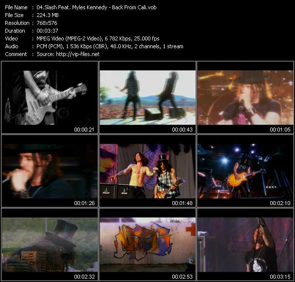 download Slash Feat. Myles Kennedy « Back From Cali » video vob