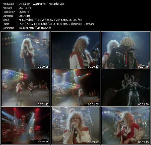 download Saxon « Waiting For The Night » video vob