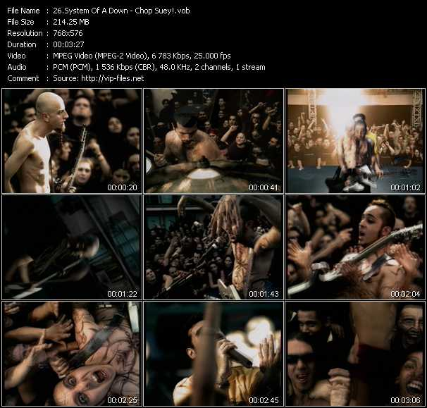 download System Of A Down « Chop Suey! » video vob