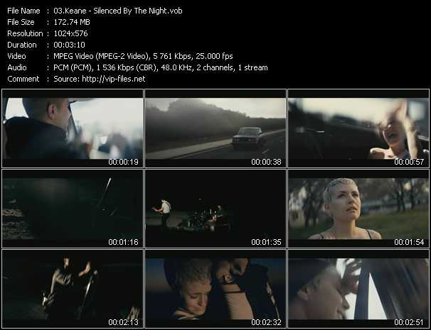 download Keane « Silenced By The Night » video vob