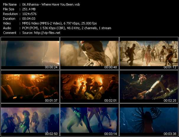 download Rihanna « Where Have You Been » video vob