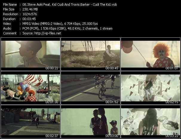 download Steve Aoki Feat. Kid Cudi And Travis Barker « Cudi The Kid » video vob
