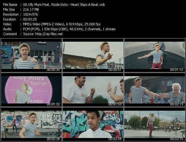 download Olly Murs Feat. Rizzle Kicks « Heart Skips A Beat » video vob
