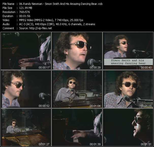 download Randy Newman « Simon Smith And His Amazing Dancing Bear (From Musikladen) » video vob