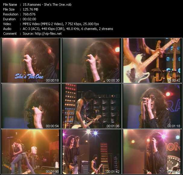 download Ramones « She's The One (From Musikladen) » video vob