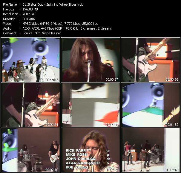 download Status Quo « Spinning Wheel Blues (From Musikladen) » video vob