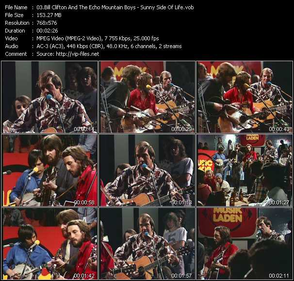 download Bill Clifton And The Echo Mountain Boys « Sunny Side Of Life (From Musikladen) » video vob