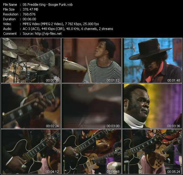 download Freddie King « Boogie Funk (From Musikladen) » video vob