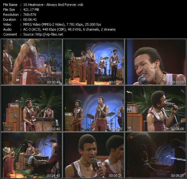 download Heatwave « Always And Forever (From Musikladen) » video vob