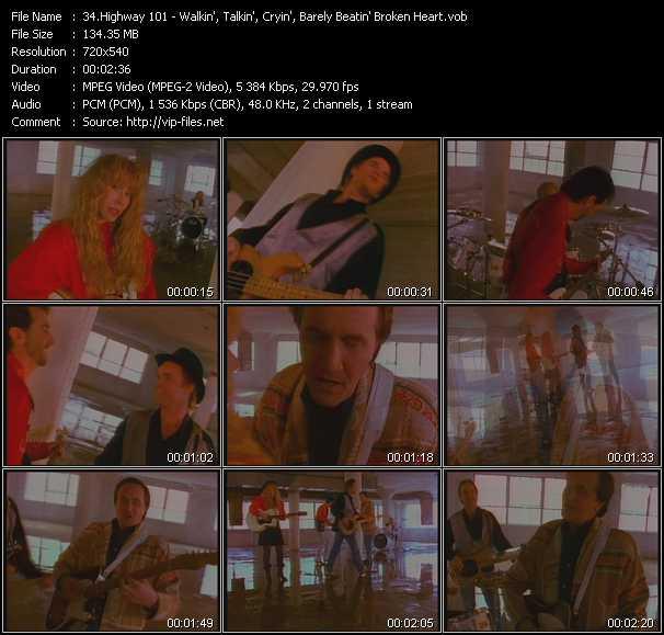 video Walkin', Talkin', Cryin', Barely Beatin' Broken Heart screen
