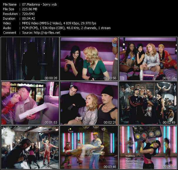 download Madonna « Sorry » video vob