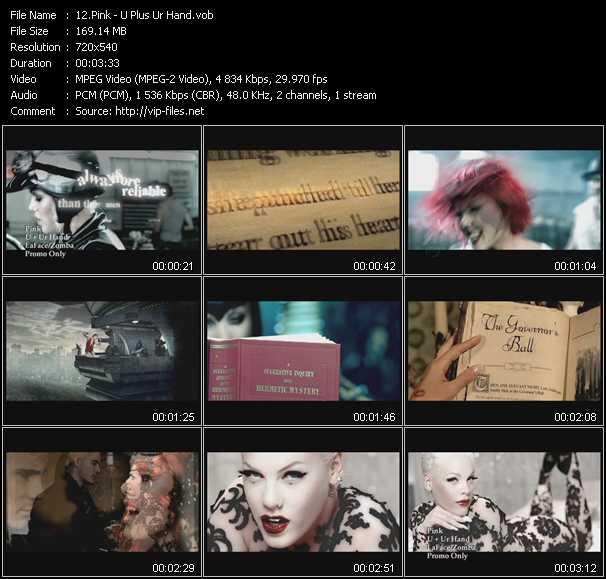 download Pink « U Plus Ur Hand » video vob