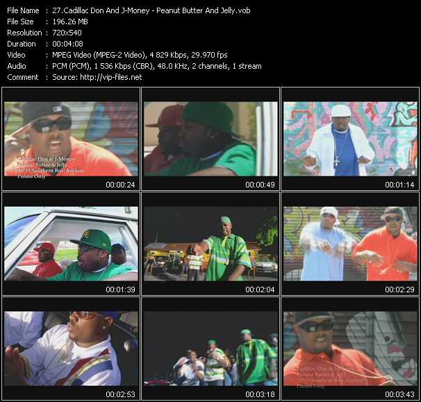 download Cadillac Don And J-Money « Peanut Butter And Jelly » video vob
