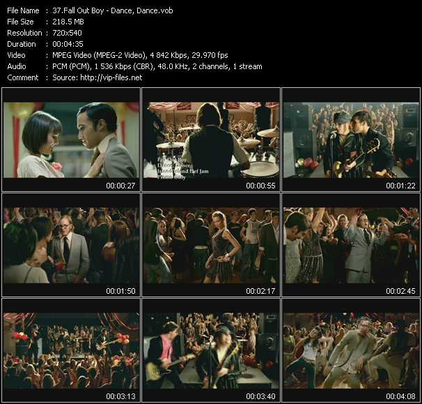 download Fall Out Boy « Dance, Dance » video vob