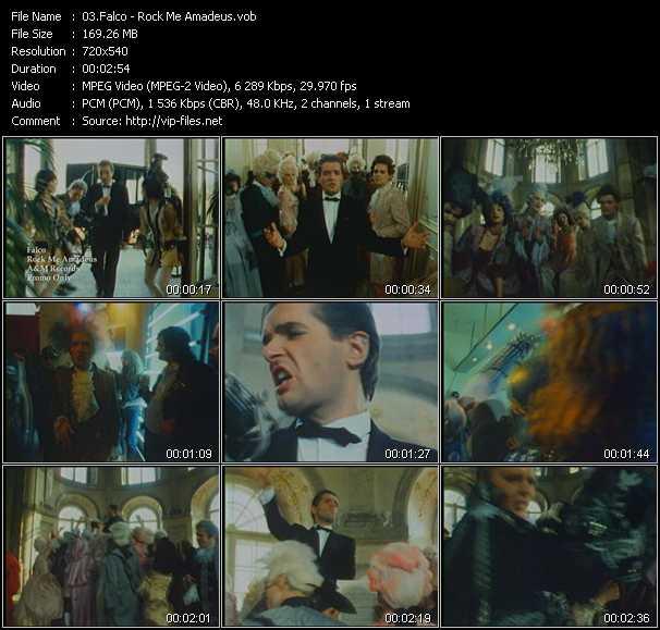 download Falco « Rock Me Amadeus » video vob