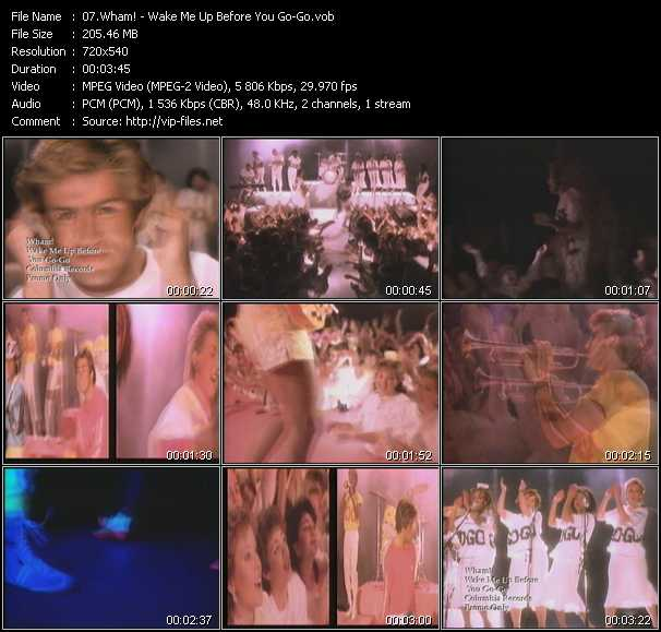 download Wham! « Wake Me Up Before You Go-Go » video vob