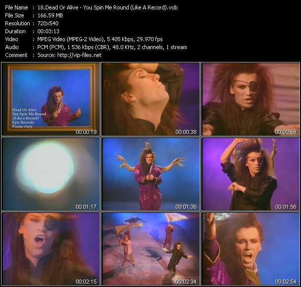 download Dead Or Alive « You Spin Me Round (Like A Record) » video vob